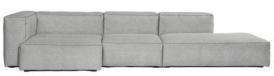 Möbel - Sofas - Soft Mags Ecksofa / L 314 cm - mit Armlehne links - Hay - Hellgrau / Armlehne links -  Tissu Divina, Mousse super soft, Panneaux de particules, Plumes d'oie