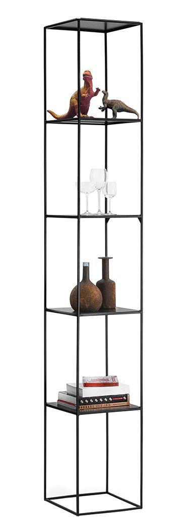 Mobilier - Etagères & bibliothèques - Etagère Slim Irony / 31 x 31 x H 206 cm - Zeus - Noir cuivré - Acier peint
