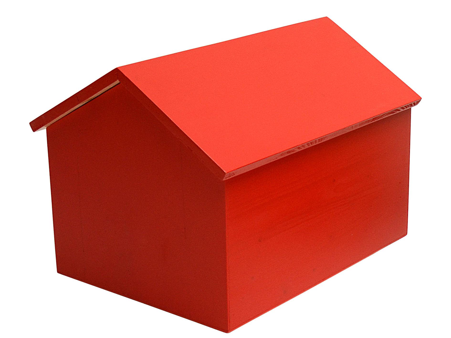 Möbel - Möbel für Kinder - Maison Kiste / groß - L 45 cm - Compagnie - Rot - mitteldichte bemalte Holzfaserplatte