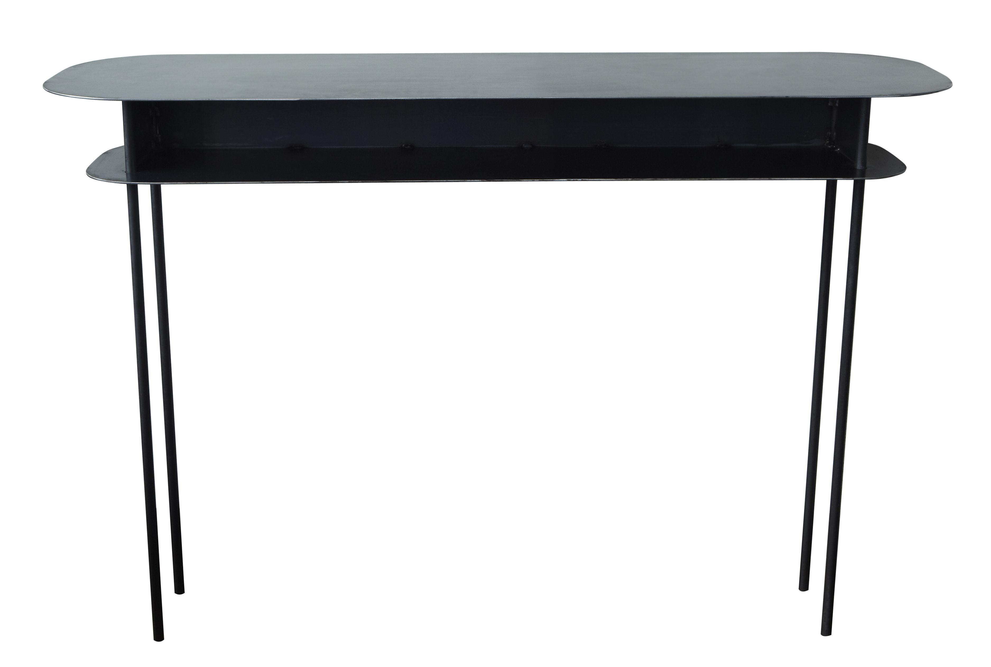 Möbel - Konsole - Tokyo Konsole / 110 x 40 cm - Maison Sarah Lavoine - Schwarz - Stahl