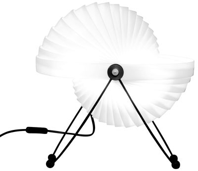Lampe de table Eclipse / Ø 32 cm - Objekto blanc,noir en matière plastique