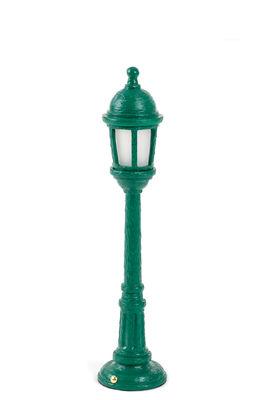 Lampe sans fil Street Lamp Outdoor / H 42 cm - Recharge USB - Seletti vert en matière plastique