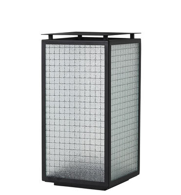 Outdoor - Ornaments & Accessories - Haze Lantern - / Reinforced glass by Ferm Living - Black - Lacquered metal, Reinforced glass