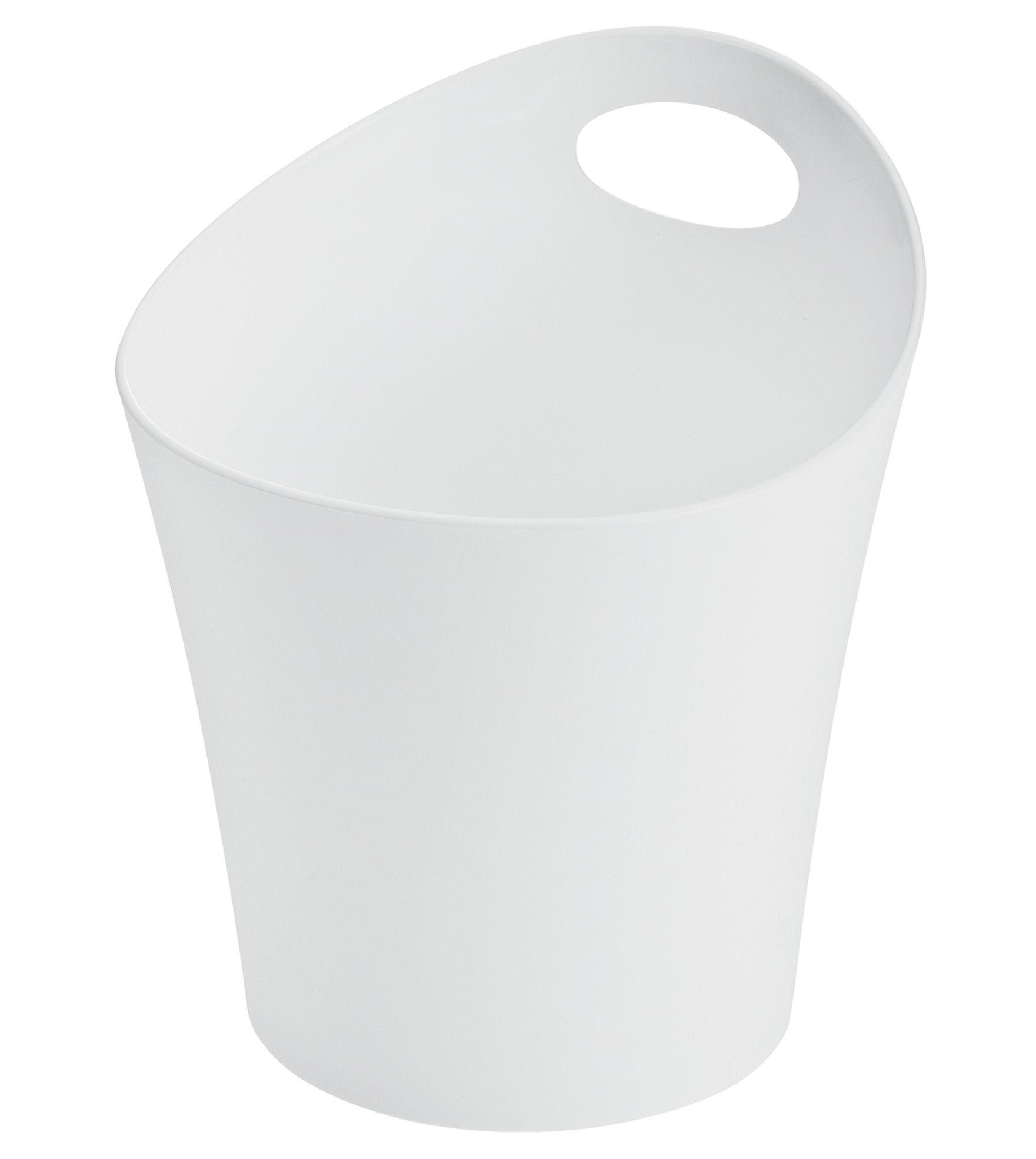 Déco - Salle de bains - Pot Pottichelli L / Cache-pot - Ø 21 x H 23 cm - Koziol - Blanc - PMMA