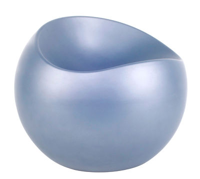 Furniture - Kids Furniture - Ball Chair Pouf by XL Boom - Matt azur - Recycled lacquered ABS