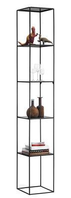 Möbel - Regale und Bücherregale - Slim Irony Regal / 31 x 31 x H 206 cm - Zeus - Schwarzbraun - bemalter Stahl