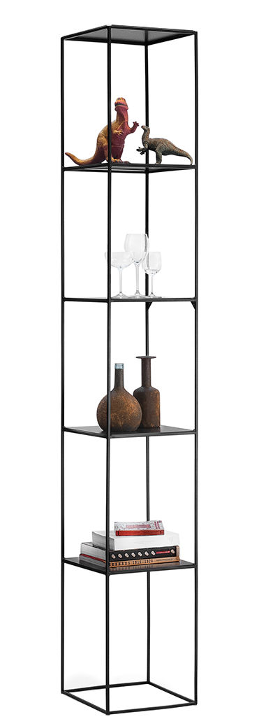 Furniture - Bookcases & Bookshelves - Slim Irony Shelf - H 206 cm by Zeus - Black copper - Painted steel