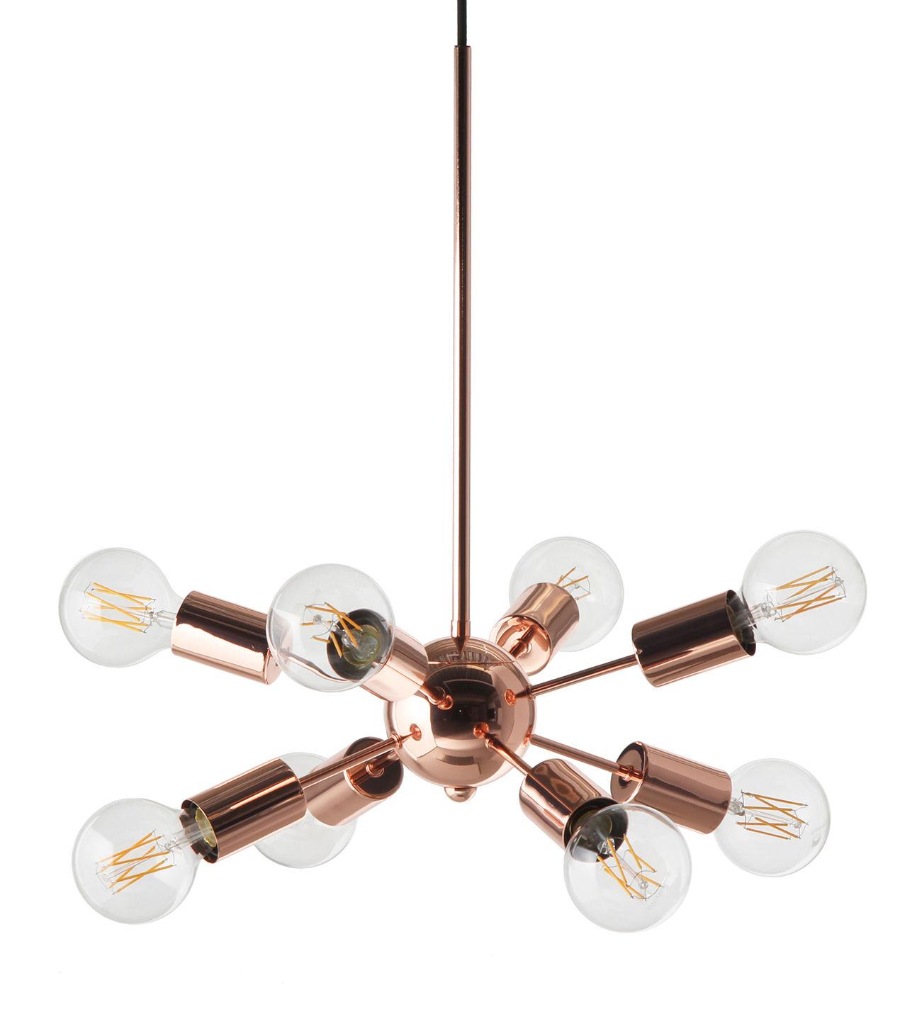 Illuminazione - Lampadari - Sospensione Mega Junction - / 8 bracci - Ø 38 cm di Frandsen - Rame - metallo verniciato
