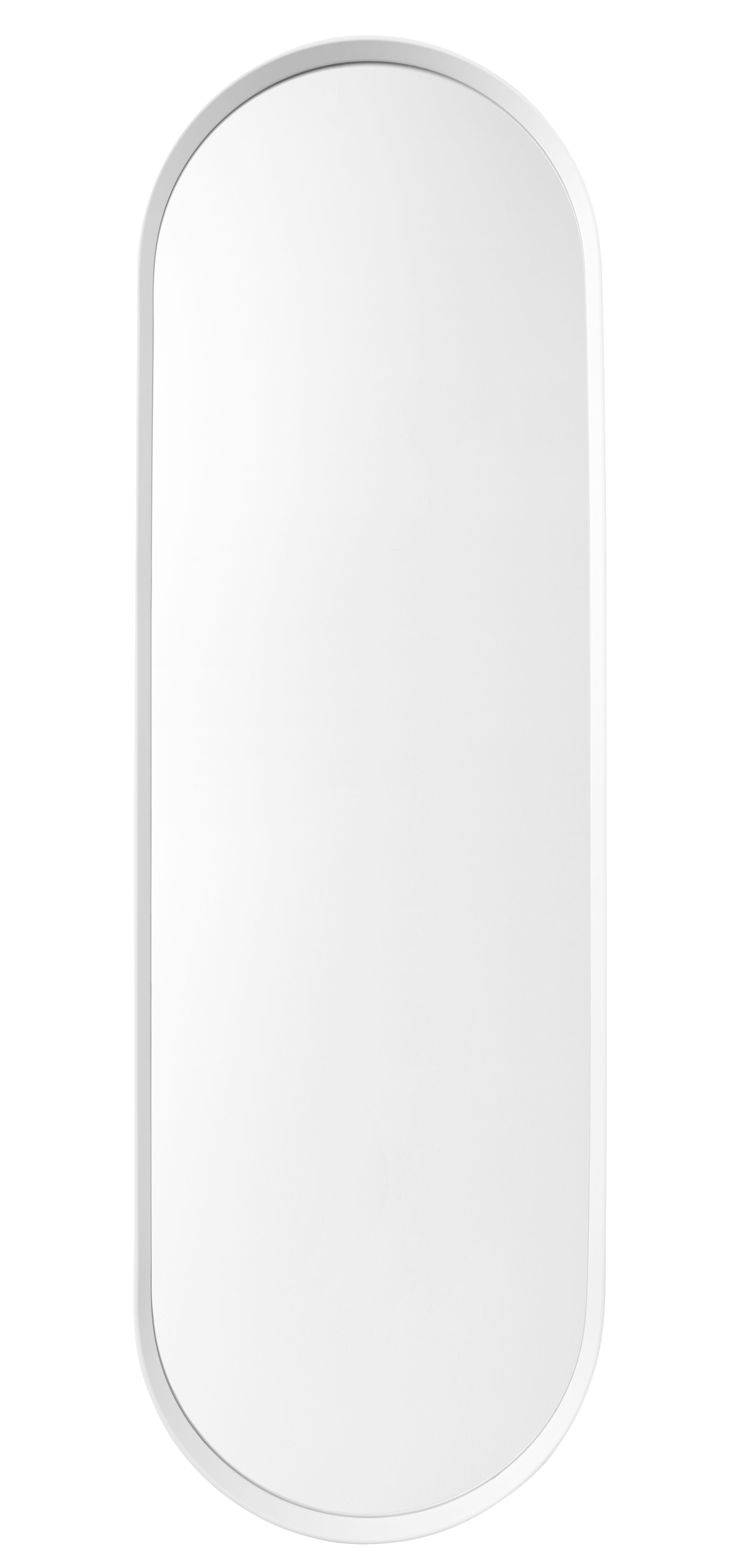 Interni - Specchi - Specchio Norm / H 129 cm - Metallo - Menu - Bianco - alluminio verniciato, Vetro