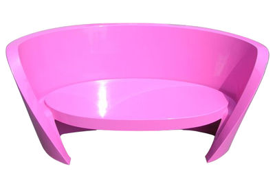 Outdoor - Sofas - Rap Straight sofa - Lacquered version by Slide - Laquered Fuchsia pink - Polythene