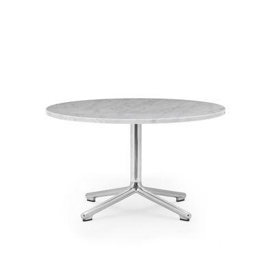 Table basse Lunar / Ø 70 x H 40 cm - Marbre blanc - Normann Copenhagen blanc en pierre
