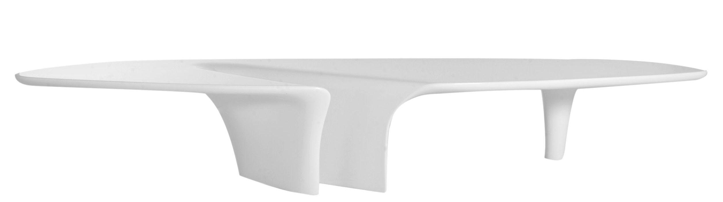 Mobilier - Tables basses - Table basse Waterfall / 216 x 60 cm - Driade - Blanc - Polyuréthane