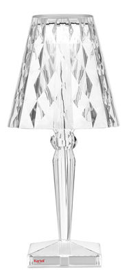 Lighting - Table Lamps - Big Battery LED Table lamp - / H 37 cm - On the mains by Kartell - Crystal - PMMA