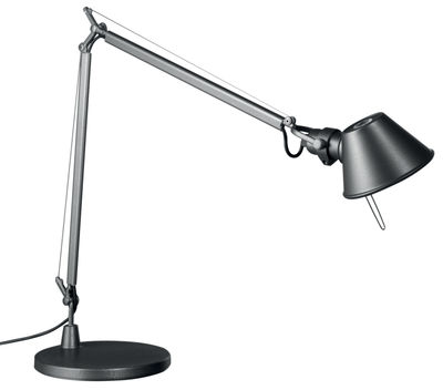 Lighting - Table Lamps - Tolomeo Midi LED Table lamp by Artemide - Anthracit grey - Aluminium, Steel
