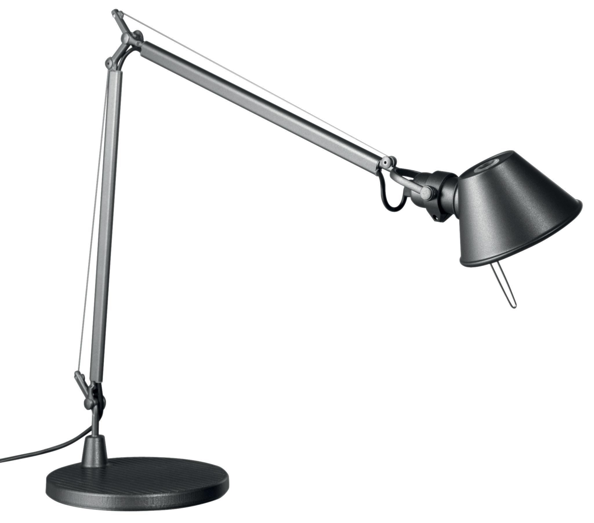 Lighting - Table Lamps - Tolomeo Midi LED Table lamp by Artemide - Anthracit grey - Aluminium, Steel