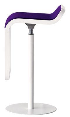 Tabouret haut réglable Lem / Assise tissu pivotante - Lapalma violet en tissu