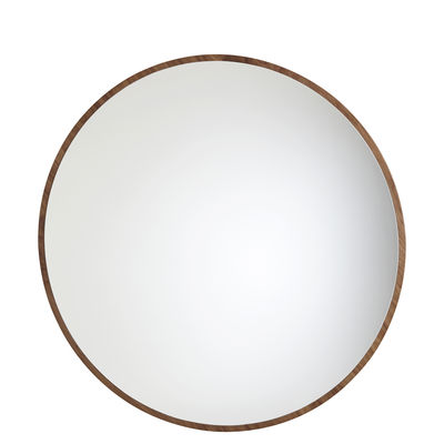 Decoration - Mirrors - Bulle Wall mirror - Medium - Ø 75 cm by Maison Sarah Lavoine - Oiled walnut - Glass, Oiled walnut