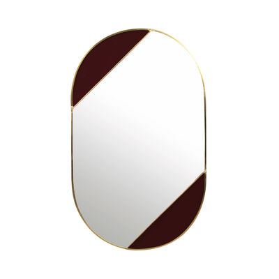 Decoration - Mirrors - Oval Wall mirror - / 24.5 x 40 cm by & klevering - Oval / Purple - Glass, Metal