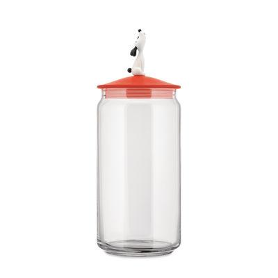 Tableware - Storage jars and boxes - LulàJar Airtight jar - / H 27 cm - 150 cl by Alessi - Orange - Glass, Thermoplastic resin