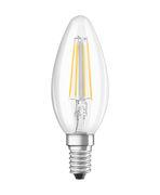 Ampoule LED E14 / Flamme claire - 4W=40W (2700K, blanc chaud) - Osram transparent en verre