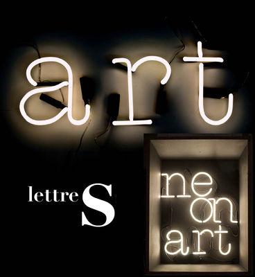 Illuminazione - Lampade da parete - Applique con presa Neon Art - Lettera S di Seletti - bianco / cavo nero - Vetro