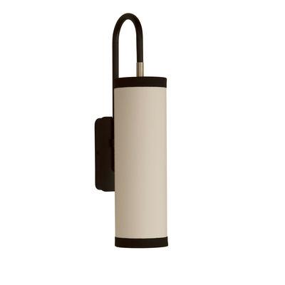 Illuminazione - Lampade da parete - Applique Tokyo - / Cotone - H 42 cm di Maison Sarah Lavoine - Nero / bianco - Acciaio termolaccato, Cotone