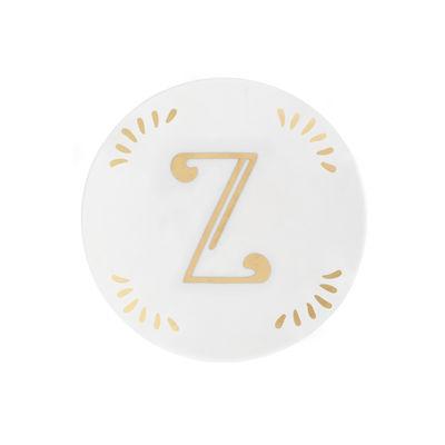 Arts de la table - Assiettes - Assiette à mignardises Lettering / Ø 12 cm - Lettre Z - Bitossi Home - Lettre Z / Or - Porcelaine