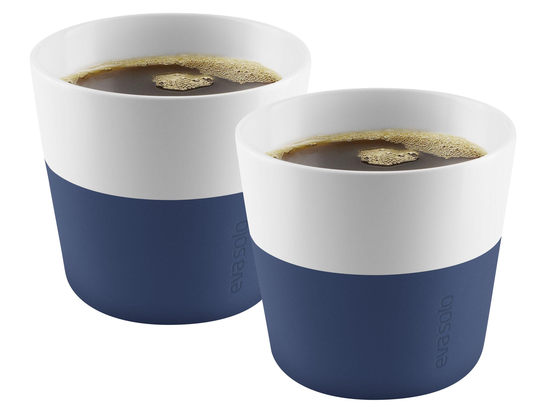 Tavola - Tazze e Boccali - Tazza Lungo / Set da 2 - 230 ml - Eva Solo - Blu navy - Porcellana, Silicone