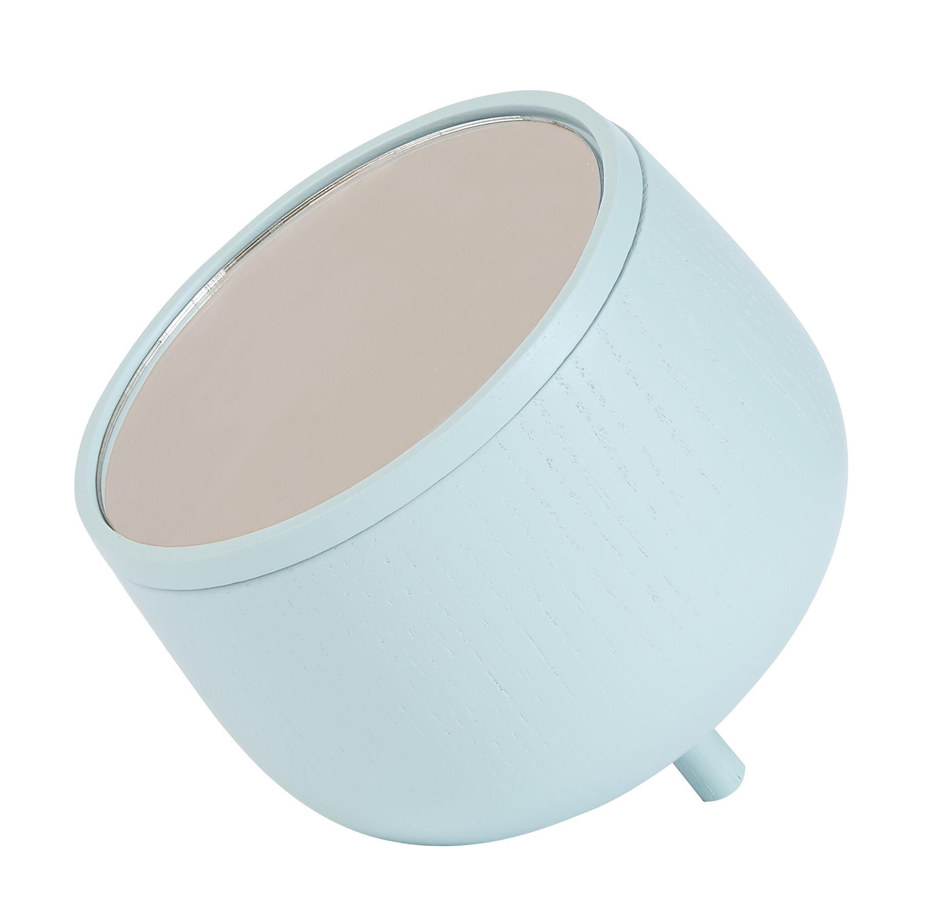 Déco - Boîtes déco - Boîte Edmée / Miroir - Hartô - Bleu pastel - Frêne, Miroir