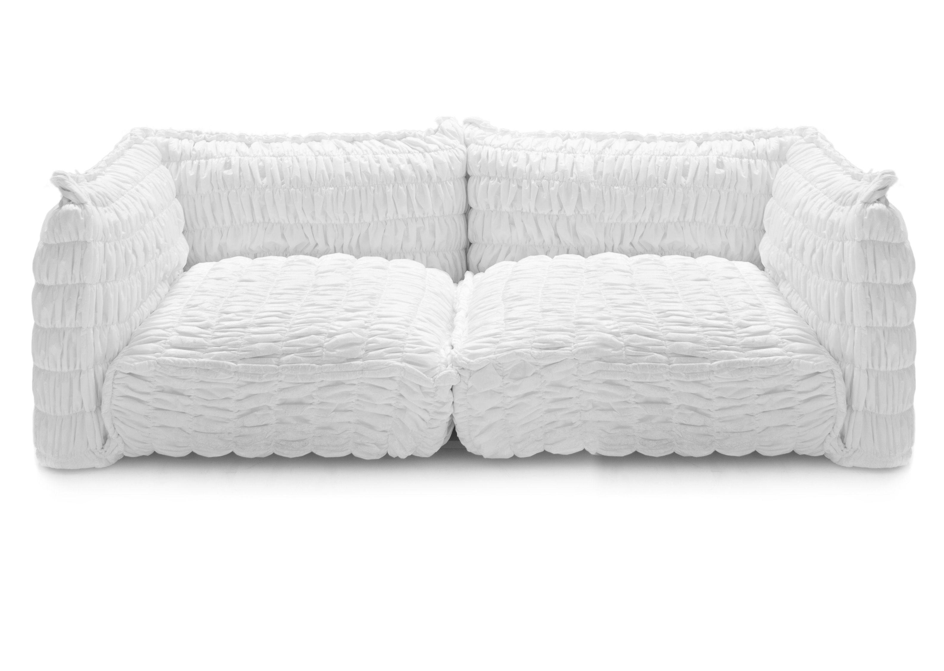 Mobilier - Canapés - Canapé droit Paper Cloud / 2 places - L 195 cm - Moroso - Blanc - Textile
