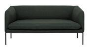 Canapé droit Turn L 160 cm Ferm Living vert foncé en tissu