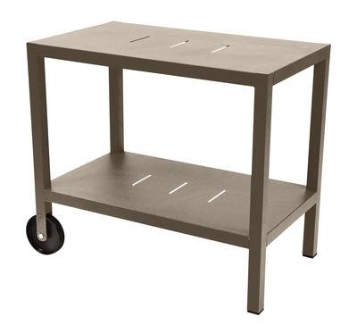 Arredamento - Complementi d'arredo - Carrello - tavolo d'appoggio Quiberon / Supporto per plancha - Fermob - Noce moscata - Acciaio, Alluminio