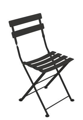 Chaise enfant Tom Pouce / Pliante - Acier - Fermob réglisse en métal