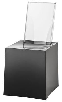 Chaise Miss Less / Plastique - Dossier transparent - Kartell noir,cristal en matière plastique