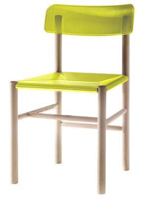 Mobilier - Chaises, fauteuils de salle à manger - Chaise Trattoria Chair / Plastique & bois - Magis - Jaune - Hêtre, Polycarbonate