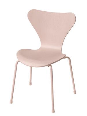 Furniture - Kids Furniture - Série 7 Children's chair - / Frêne teinté by Fritz Hansen - Rose - Plywood: tinted ash, Steel