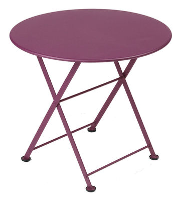 Furniture - Coffee Tables - Tom Pouce Coffee table by Fermob - Aubergine - Lacquered steel