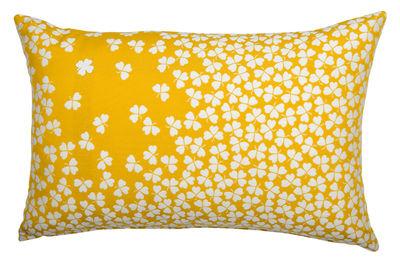 Coussin d'extérieur Trèfle / 68 x 44 cm - Fermob jaune en tissu