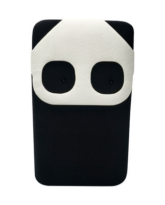 Déco - Pour les enfants - Coussin Panda Mini / L 20 x H 33 cm - EO - Noir & Blanc - Mousse, Tissu Kvadrat