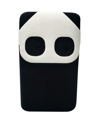 Coussin Panda Mini / L 20 x H 33 cm - Elements Optimal blanc,noir en tissu