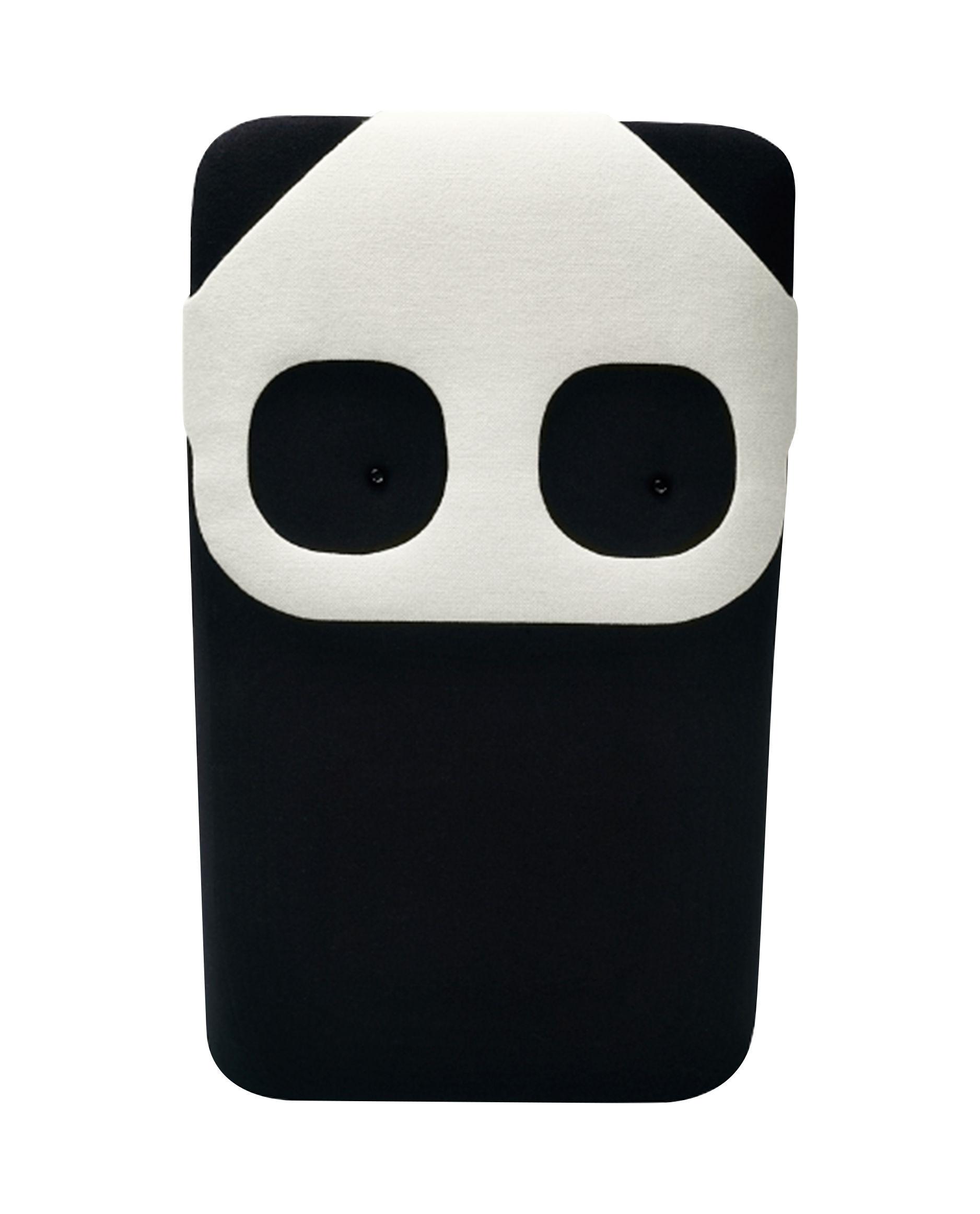 Decoration - Children's Home Accessories - Panda Mini Cushion - W 20 x H 33 cm by Elements Optimal - Black & White / Panda - Foam, Kvadrat fabric