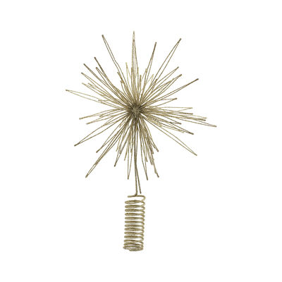 Decoration - Home Accessories - Star Decoration - / Christmas tree-top ornament - Ø 25 cm by House Doctor - Gold - Metal