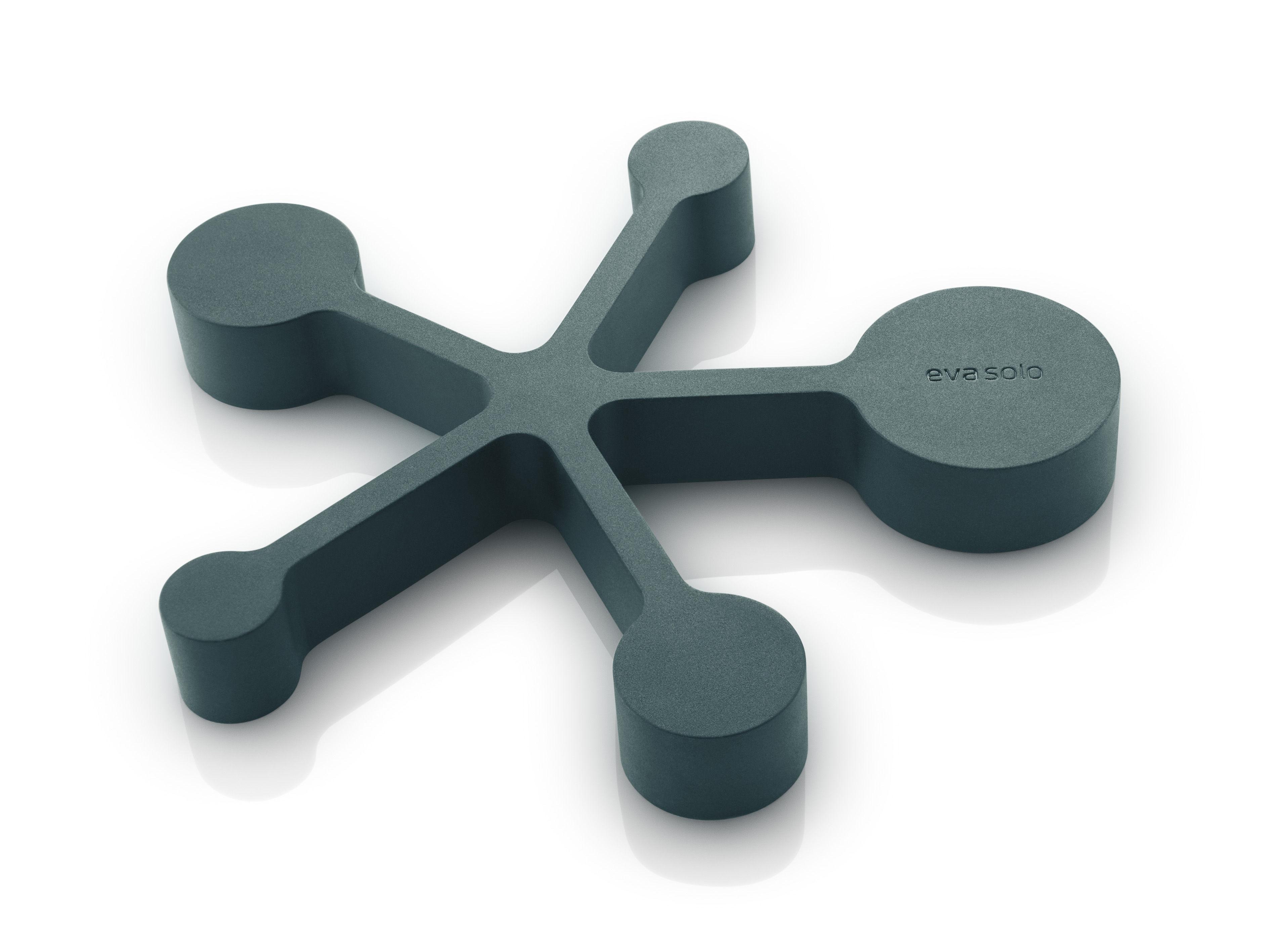 Arts de la table - Dessous de plat - Dessous de plat / Cuillères doseuses intégrées - Silicone souple - Eva Solo - Bleu Pétrole - Silicone souple