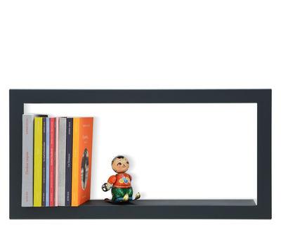 Mobilier - Etagères & bibliothèques - Etagère Largstick / Métal - L 59 x H 28 cm - Presse citron - Ardoise - Acier laqué