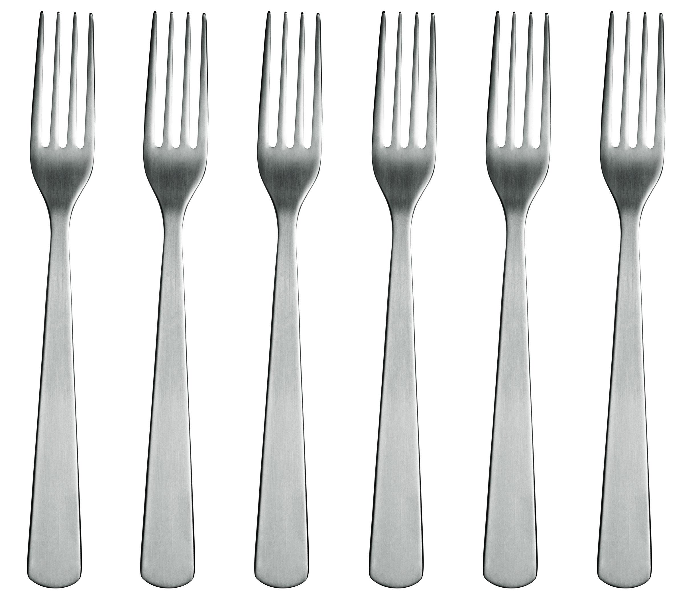 Tableware - Cutlery - Normann Fork - Set of 6 forks by Normann Copenhagen - Mat steel - Steel