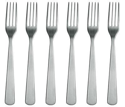 Arts de la table - Couverts de table - Fourchette Normann / Lot de 6 - Normann Copenhagen - Acier mat - Acier