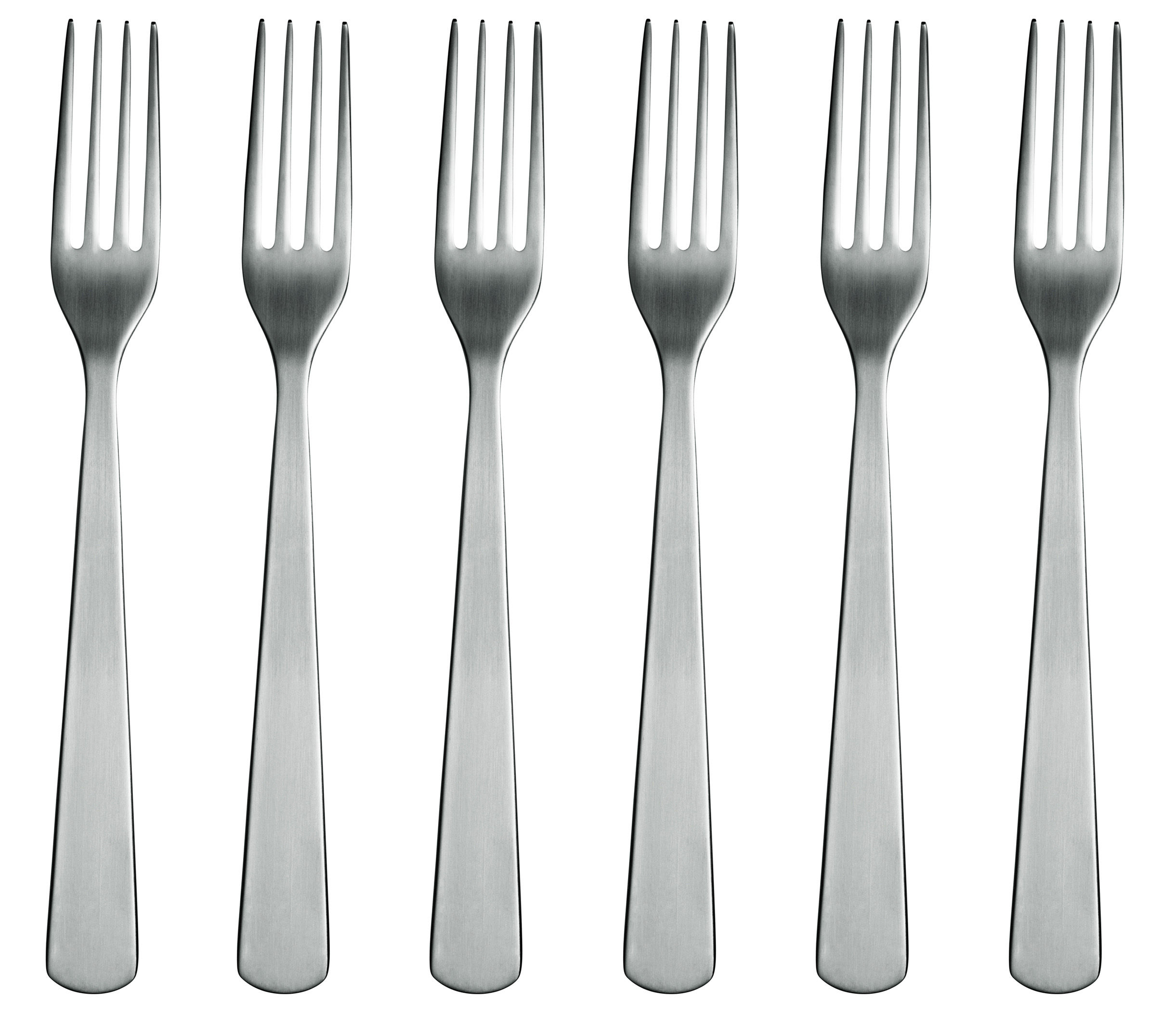 Tischkultur - Bestecke - Normann Gabel 6 Stück - Normann Copenhagen - Edelstahl matt - Stahl