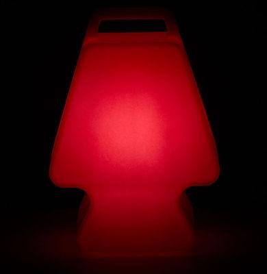 Image of Lampada senza fili Prêt à Porter - LED / Senza fili di Slide - Rosso - Materiale plastico