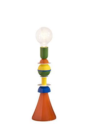 Lampe de table Otello / Métal - H 40 cm - Slide bleu,jaune,orange,vert en métal