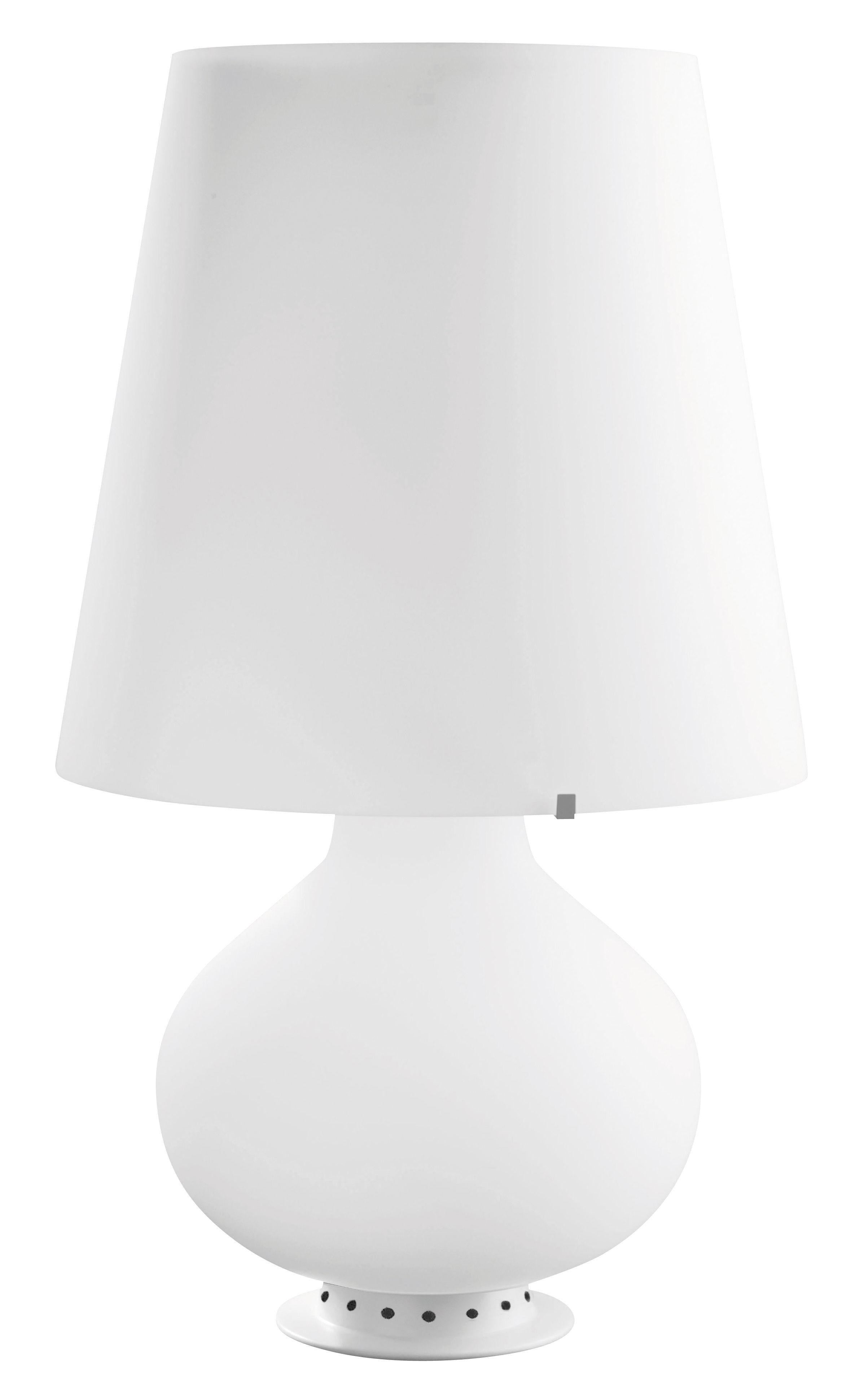 Luminaire - Lampes de table - Lampe Fontana - Fontana Arte - H 78 cm / Blanc - Métal, Verre soufflé